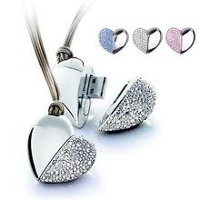 popular crystal heart flash drive