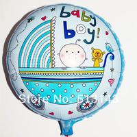 new arrivel 50pcs/lot 18inch baby boy baby girl ballon round shape aluminium foil balloon for baby birthday party decoration