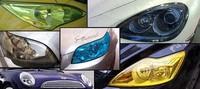 "12""x84"" FREE SHIPPING CAR HEADLIGHT LAMP TAIL LIGHT VINYL FILM SHEET COVER STICKER YELLOW BLUE BLACK TRANSPARENT MEMBRANCE"
