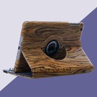 20pcs/lot Tablet 360 PU Leather Rotating Case cover wood Retro Grain For iPad/iPad mini/iPad 2/3/4/5 7.9 inch, 9.7 inch