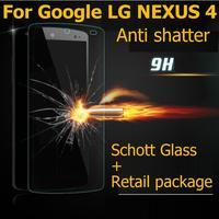 Nexus 4 Ultra-thin 2.5D Premium Tempered schott Glass Anti-shatter Screen Protector Protective Film For Google LG Nexus 4 E960