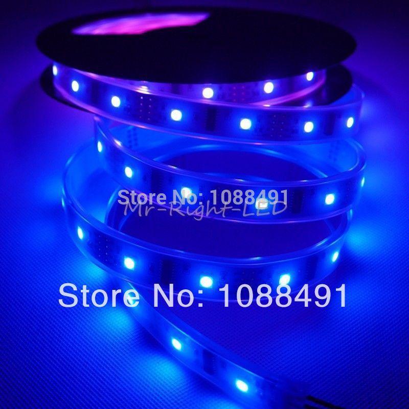5M 5050 SMD Waterproof LPD8806 IC Flexible RGB LED Strip 32 LEDs/m IP67 DC 5V red bule pink purple(China (Mainland))