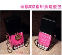 Fashion star d three-dimensional nail polish oil style bag one shoulder cross-body women's handbag bag