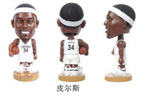 America Basketball Brooklyn Nets No. 34 Paul Pierce Figure Mini Basketball Toy Doll Interactive Dolls Collectible Gifts