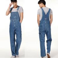Men's plus size overalls Large size huge denim bib pants Fashion pocket jumpsuits Male Free shipping