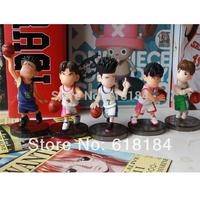 New 2014 hot toys Japanese anime pvc action figures set Basketball Sendoh,Fukuda,Maki, Fujima 5pcs/set cute Car Accessoies gifts