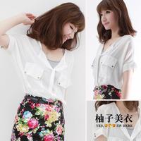 Hot sale  spring 2014 ladies fashion blouse shirt printed women desigual shirt Free shipping