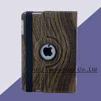 200pcs/lot Tablet 360 PU Leather Rotating Case cover wood Retro Grain For iPad/iPad mini/iPad 2/3/4/5 7.9 inch, 9.7 inch