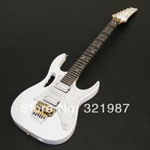 frete grátis qualidade superior nova ibz jem 7v branco guitarra captador dimarzio na entrega ações em 24 horas(China (Mainland))