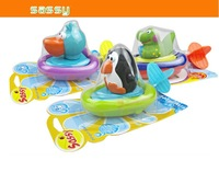 2014 Hot Sale ! Sassy Baby Bath Toys Rope Wound-up Boat Kid Water Swimming Toy Free /Drop Shipping SHD-156