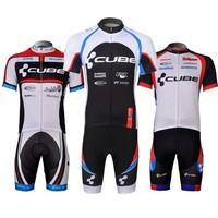 Cycling Monton Breathable Quick Dry  CUBE Cycling Jersey Short Sleeve or Shorts or Cycling bib Shorts or Kits Clothing CDUI073