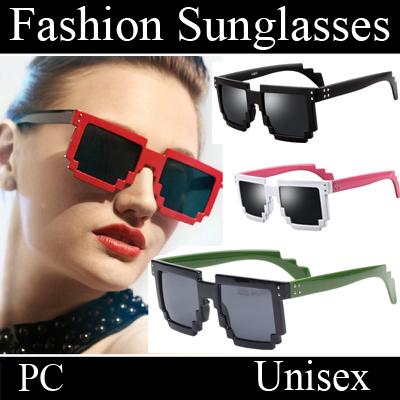Mosaic Large Square Frame Sunglasses new 2014 novelty hot glasses party glasses modish eyeglasses oculos gafas dd046(China (Mainland))