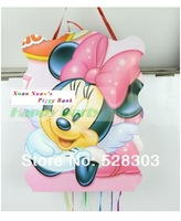 Free shipping New child birthday party supplies MINNIE Mouse,Hello Kitty,Princess folding paper pinata toy for girls