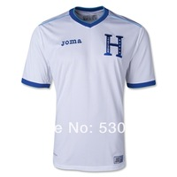 Top Thailand Quality New 2014 World Cup Honduras home white soccer jerseys Football Uniforms men athletic shirt free shipping