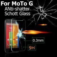Retail Ultra-thin 2.5D Premium Tempered schott Glass Anti-shatter Screen Protector Film For Motorola Moto G Phone original Panel