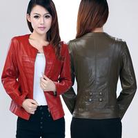Women's leather clothing 2014 leather jacket short design women's genuine leather clothing genuine leather clothing coat