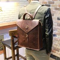 Crazy horse leather Travel  man            backpack kanken   bag