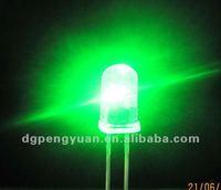 Alibaba manufacturer DIP 3MM LED Green color diode 3.0-3.4V 0.06W lamp bulb
