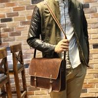 men's leather handbags   bag Crazy horse leather    document     briefcase  briefcase men messenger bags    handbag