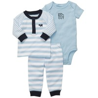 2014 New Carters baby 3-piece bodysuit pant set long sleeve body+short sleeve body+pant Free shipping