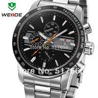 Free shipping WEIDE Watch Men Quartz Sports Watch Diver Luxury Brand Men Full Steel Complete Calendar Famous Waterproofed WH3313