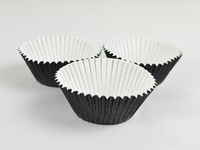 Black  200 x Cupcake Cases Cake Liners Baking Muffin Decoration For  Party Favor / Baby Shower