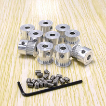 10pcs/lot GT2 Timing Pulley 20 teeth Alumium Bore 6.35mm for width 6mm belt FOR 3D PRINTER Free shipping(China (Mainland))