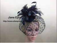 2014 New arrive Feather Fascinator hat , Good quality feather hat and on 2 clip for wedding /church/party/races.