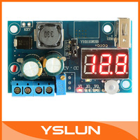 LM2596 DC4-40V to 5V/12V DC Step-down Converter USB Regulated Power Supply Charger with Red LED Voltmeter #090641