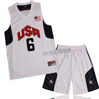 Usa backslapping basketball clothes set team usa basketball clothing 6 jersey personalized