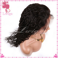 baby hair brazilian curly virgin hair 1b# full lace wig products cheap human hair  brazilian deep wave curly virgin hair wigs