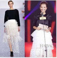2014 summer star irregular dot bust skirt full dress tulle dress dream full dress