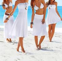2014 Beach dress fashion bikini outside shirt tie skirt beach one-piece dress
