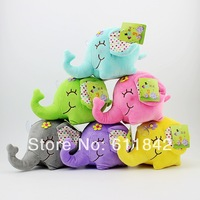 Free shipping wholesale cute  plush elephant dolls,great present for baby/children for XMAS, home decoration,mini plush toys