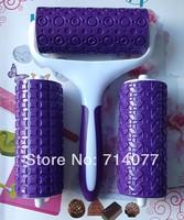 Freeshipping 3PCS/SET  Food Grade Plastic Roller Set Cake Decorating Bakeware Tools