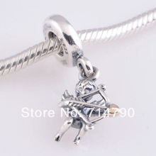 925 Sterling Silver Cupid Dangle Charm Bead Fit European Jewelry Bracelets Necklaces & Pendants