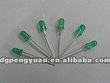 Alibaba manufacturer DIP 3MM LED Normal Green color diode 3.0-3.4V 0.06W lamp bulb