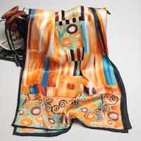105061 170x52cm 2014 Newest Women's Heavy Crepe Satin Scarf, 100% Silk scarves, rectangle silk scarf, Free Shipping Muslim Hijab