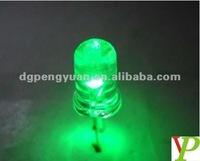 Alibaba manufacturer DIP 10mm LED Green Color diode 3.0-3.4V 0.06W lamp bulb