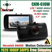 "2014 NEW G10W Novatek 96650 Car DVR Video Recorder Full hd 1080P 2.7""LCD+Night Vision+G-Sensor+H.264 Video Recorder Dash Cam"