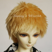Sw . dz . small p . bjd . sd doll wool wig