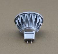 Free Shipping 4 pieces/Lot Aluminum Body New Model MR16 4*1W LED Bulb DC/AC12V 45 Degree Beam Angle 40W Halogen Lamp Equivalent