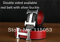 new style 2014 Gold/silver buckle genuine leather belt Smooth buckle belts for women and men Wholesales price!Drop/Free shipping