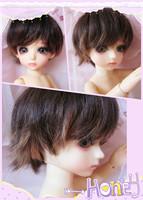 Bjd sd doll wig super handsome black after short
