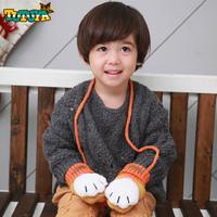 New Arrival Fashion child winter gloves baby cartoon thickening gloves child plush halter-neck thermal gloves