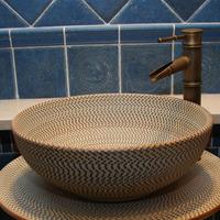 Art basin vintage table basin ceramic wash basin bathroom basin