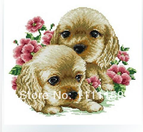 Diy diamond painting kits 30x30cm garden dog diy square diamond rhinestone pasted painting unfinihsed handcraft(China (Mainland))