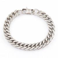 серебро ссылка цепь браслет 316l из нержавеющей стали браслет Винтаж ювелирные изделия
