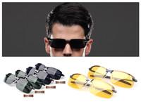 2014 New fashion High Quality Men polarized sunglasses Night vision goggles driver the antiglare driving sunglasses