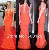 Mermaid Prom Dresses Custom Made Off The Shoulder Sleeveless Floor Length Lace Special Occasion Dresses 2014 vestidos de fiesta